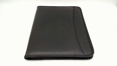 New Faux Leather Day Timer Notebook Black W Free Notepad