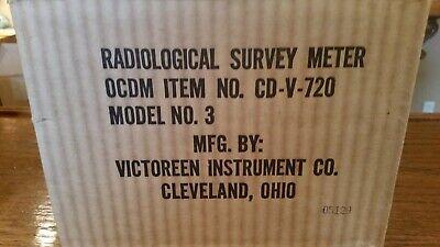 Cd V-720 Radiation Detection Survey Meter Geiger Counter Cdv-720 Model 3
