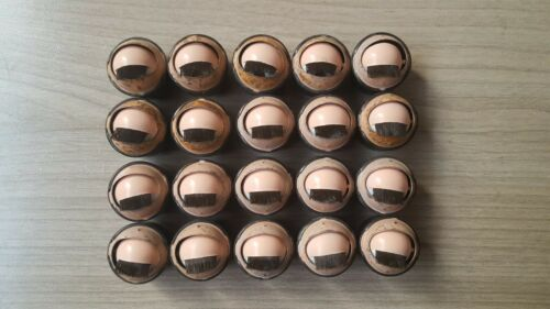 VINTAGE 10 PAIR SLEEPING BLINKING OPEN CLOSE DOLL EYES WITH LASHES MARGON 17