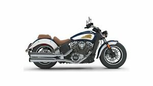 2018 Indian Motorcycles Scout ABS BRILLANT BLUE/WHITE/RED PINSTR