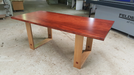 Timber slab table dining tables gumtree australia free for Gumtree beauty table
