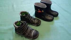 BOYS AIFLEX LEATHER BOOTS and RUBBER BOOTS Semaphore Port Adelaide Area Preview