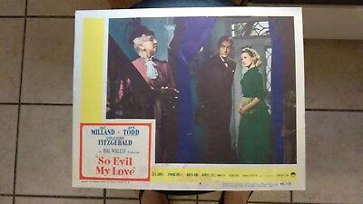 SO EVIL MY LOVE 1948 #8 11X14 LOBBY CARD RAY MILLAND ANN TODD GERALDINE FITZGERA