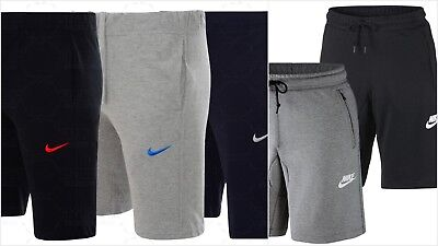 NEW MENS NIKE JERSEY SHORTS SHORT PANTS SIZES S M L XL JOGGING NAVY GREY BLACK