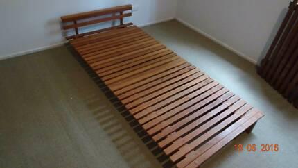 Slatted Futon Single Bed Base