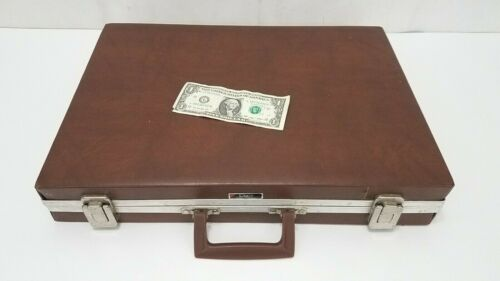 Savoy Vintage Cassette Tape Storage Carry Case Box - Holds 60 - Brown Vinyl