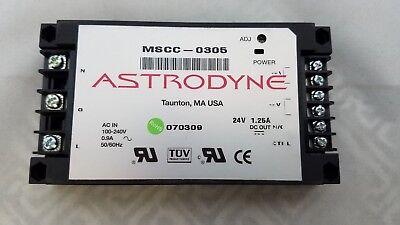 Astrodyne Mscc-0305 24 Vdc Adjustable Modular Switching Power Supply 1.25a