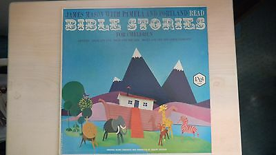 P.R.I. Records James Mason with Pamela & Portland BIBLE STORIES for Children LP
