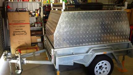 6 x 4 Heavy Duty Galvanised Box Trailer with Canopy