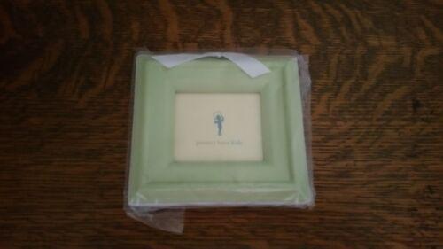 Pottery Barn Kids Ribbon Nursery Shower Gift Wooden Frame Green or Blue ~ NEW