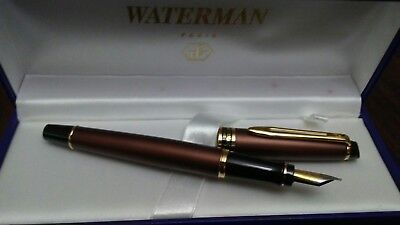 Waterman Bronze Expert II Fountain Pen  Med. Nib--Brand New-Discontinued Model