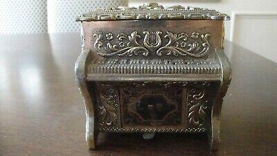 - Vintage Pewter  Piano Music Box Japan