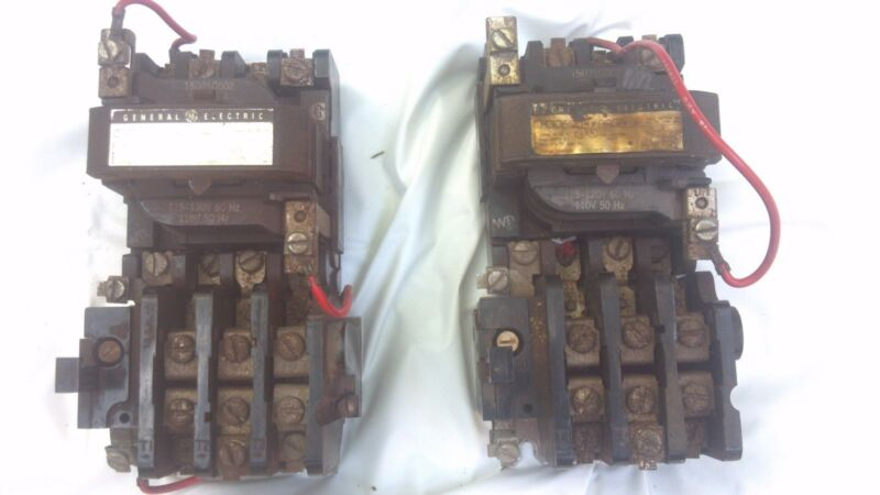 General Electric Magnetic Starter Cr306c0**aaga Nema Size 1 Amps 27 Volts 600 Ac