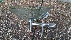 Bathroom glass bowl basin sink toilet mixer tap stainless pipe ac Campbelltown Campbelltown Area Preview