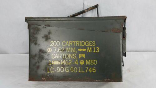 Vintage US Military Ammo Box 200 Cartridges 7.62 MM --M13 Cartons