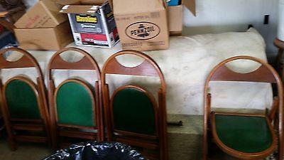 (Antique Oak Larkin #1 (?) Pressed Back Chairs Set of 4)