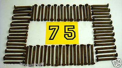 "LOT of 75 Used Carbon Steel 6-7"" Large Variety Vintage Railroad Spikes"