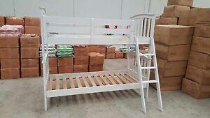 Single Bunk Beds White Fairfield Darebin Area Preview