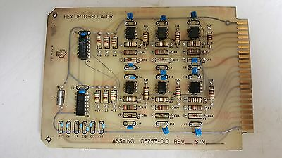 Charmilles Hex Opto-Isolator PC Board, 103253-010, Rev D, Used