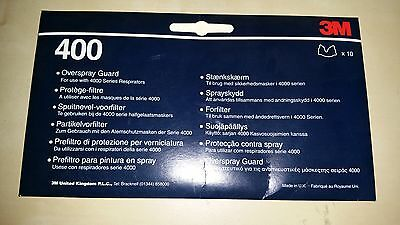 3M Overspray Guard  Part No. 400   Pack (10)     for 4000 series & 06941 06942