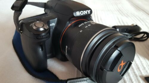 Sony Alpha A55 16.2MP Digitalkamera - Schwarz (Kit mit DT 18-55mm Objektiv)