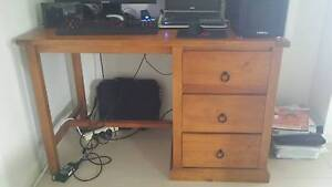 Wooden computer or student desk Yamanto Ipswich City Preview