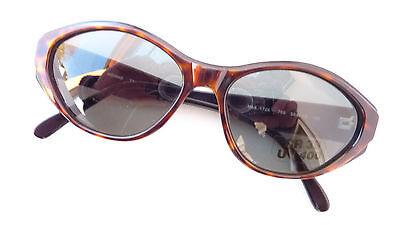 Große Damen Sonnenbrille Marke Menrad havanna braun dunkle Gläser UV 400 Gr. M