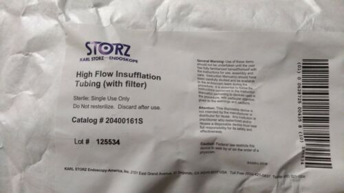 Karl Storz 20400161S High Flow Insufflation Tubing with Filter.#20400161S