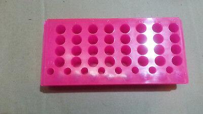 2 Sided Plastic Vialcentrifuge Tube Rack 40 Hole Pink