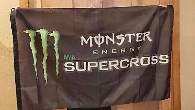 Monster Energy AMA Supercross Motorcross 3x5 Flag dirt bike motorcycle Racing MX