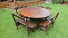 Cedar outdoor table and chairs Colonel Light Gardens Mitcham Area Preview