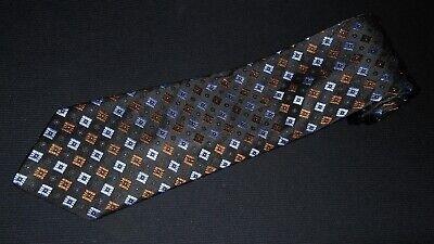 New IKE Behar Tie Black Purple Brown Luxury Woven Italian Silk Designer Necktie