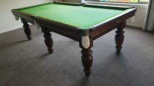 Original solid timber 8' x 4' pool table.