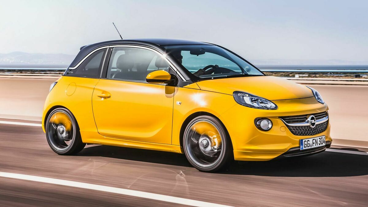Der Opel Adam in der Farbe 'Mandarina Orange'