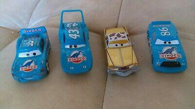 Disney Pixar Cars Diecast Lot Rare The King Tex Dinoco Chick Hicks Bling McQueen