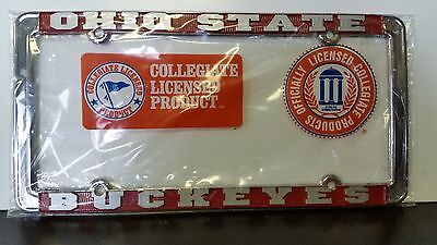 Ohio State Buckeyes Metal License Plate Frame OSU  Officially Licensed Car (State Metal License Plate)