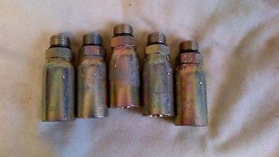 5 Weatherhead Crimp Hydraulic Hose Fittings 06u-p06 Male Orb -6 X 38 Hose