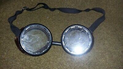 Vintage Willson Safety Goggles Industrial Steampunk Motorcycle Glasses ANTIQUE
