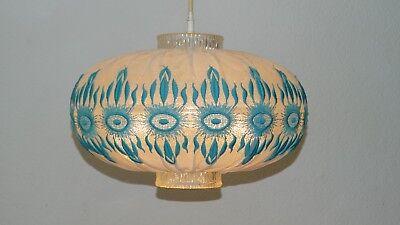 50er- 60er Acryl  Stoff Schirm Deckenlampe   Lampe Leuchte Deckenleuchte