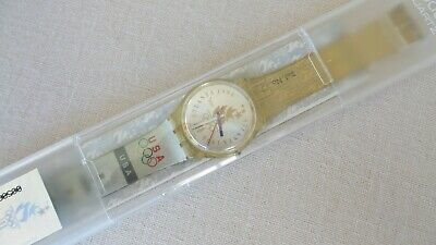 1996 Olympics SWATCH Atlanta Olympic Team GZ150 Swiss Watch 34mm New Battery