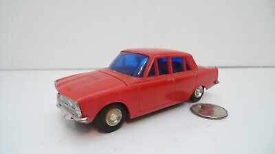 "Vintage Lucky Brand Rover P6 1973 Red w/ Blue Windows Friction Model Toy 5"" Car"