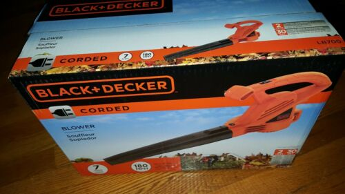 BLACK+DECKER Electric Leaf Blower, 7-Amp  Corded - BRAND NEW