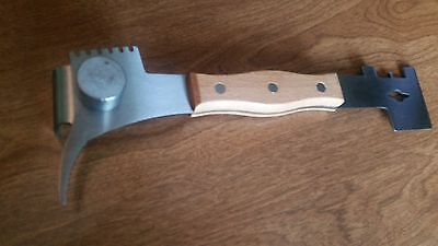 Multi-use Hive Tool Stainless Steel With Wooden Handle. Beekeeping. Honey Bee