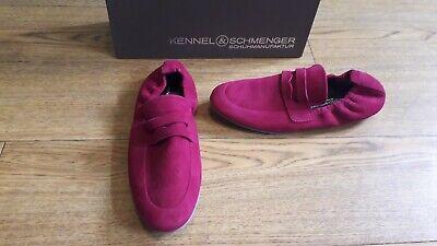 Kennel and Schmenger Tara shoes.RRP £240.5 UK.Cerise pink or magenta loafer