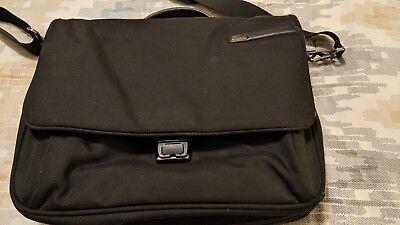 Black Expandable Messenger Bag - Tumi Expandable Black Ballistic Nylon Laptop/Messenger Bag