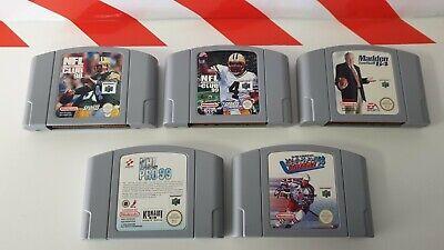 Nintendo N64 NFL Quarterback Club 98 & 99 & Madden 64 & 3D Hockey & NHL Pro 99