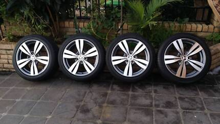 HOLDEN VF/VE SS/SV6 WHEELS 18INCH GOOD TYERS 80% TREED GOOD RIMS Greenacre Bankstown Area Preview