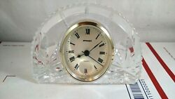Vintage Staiger Quartz Movement Cut Crystal Clock Made In Germany Mantel Desk