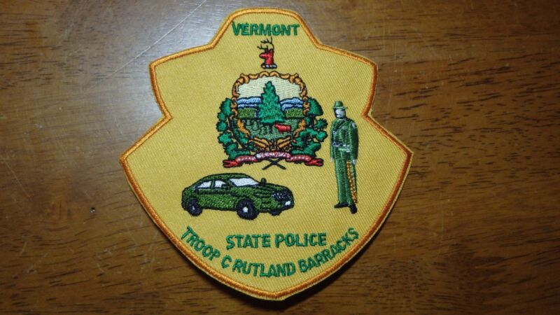 RARE VERMONT STATE POLICE TROOP C RUTLAND BARRACKS  STATE TROOPER HIGHWAY PATROL