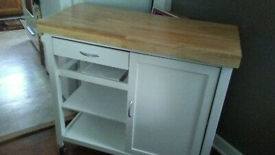 Kitchen Island Shelves - 3 Shelves White Wood Storage Cabinet Kitchen Island Cart Shelf Drawer and Towel.